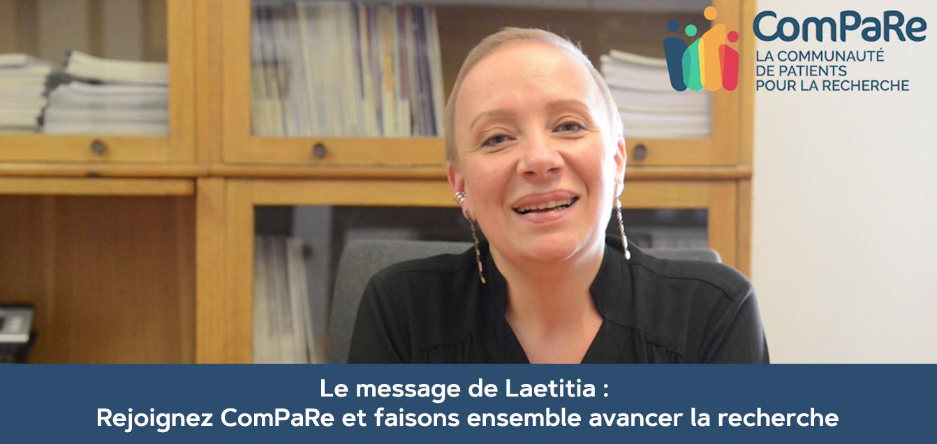 Le témoignage de Laetitia pour la Communauté ComPaRe