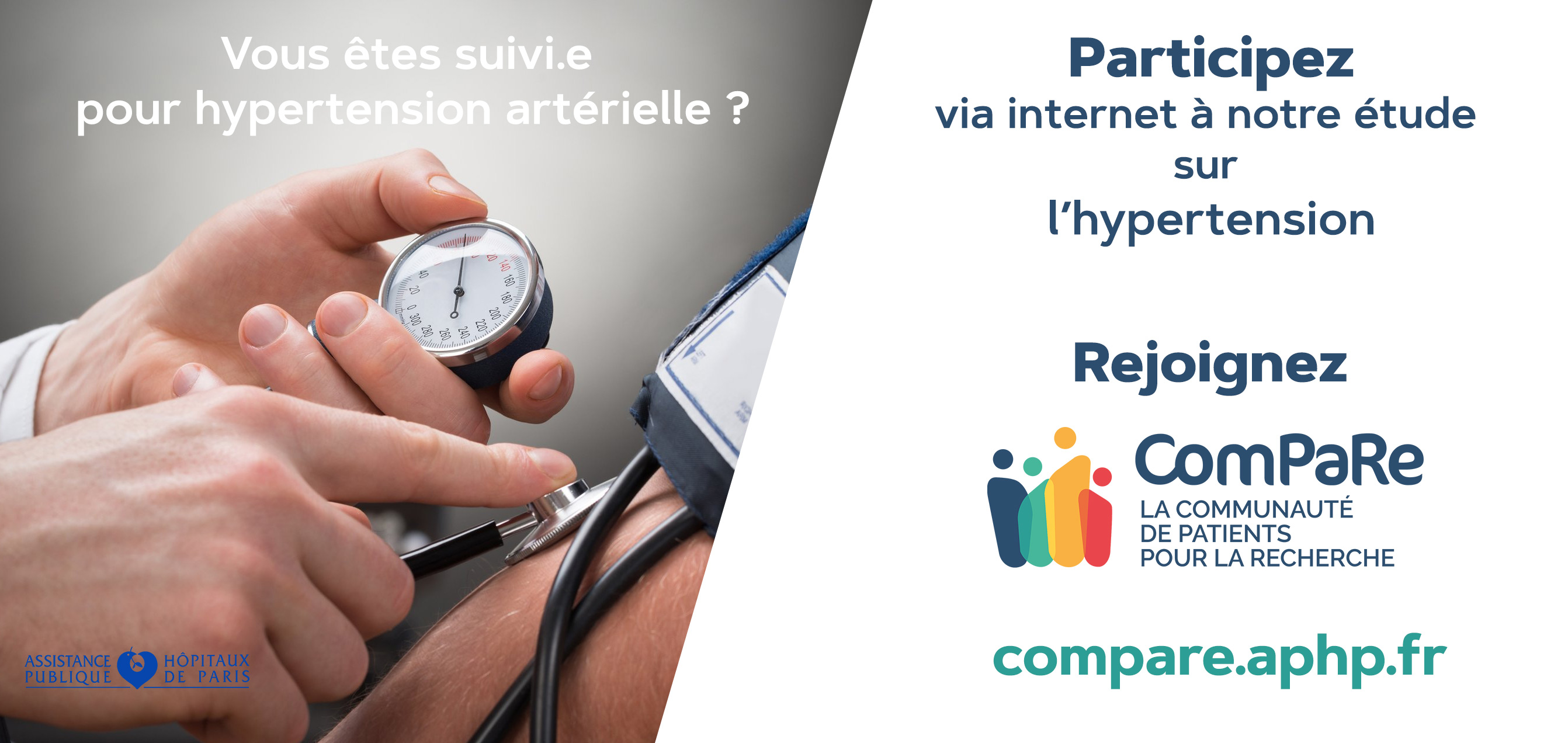 Hypertension : avec ComPaRe, l'AP-HP invite les patients à contribuer à la recherche